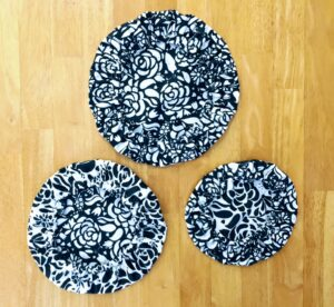 Set of three bowl covers