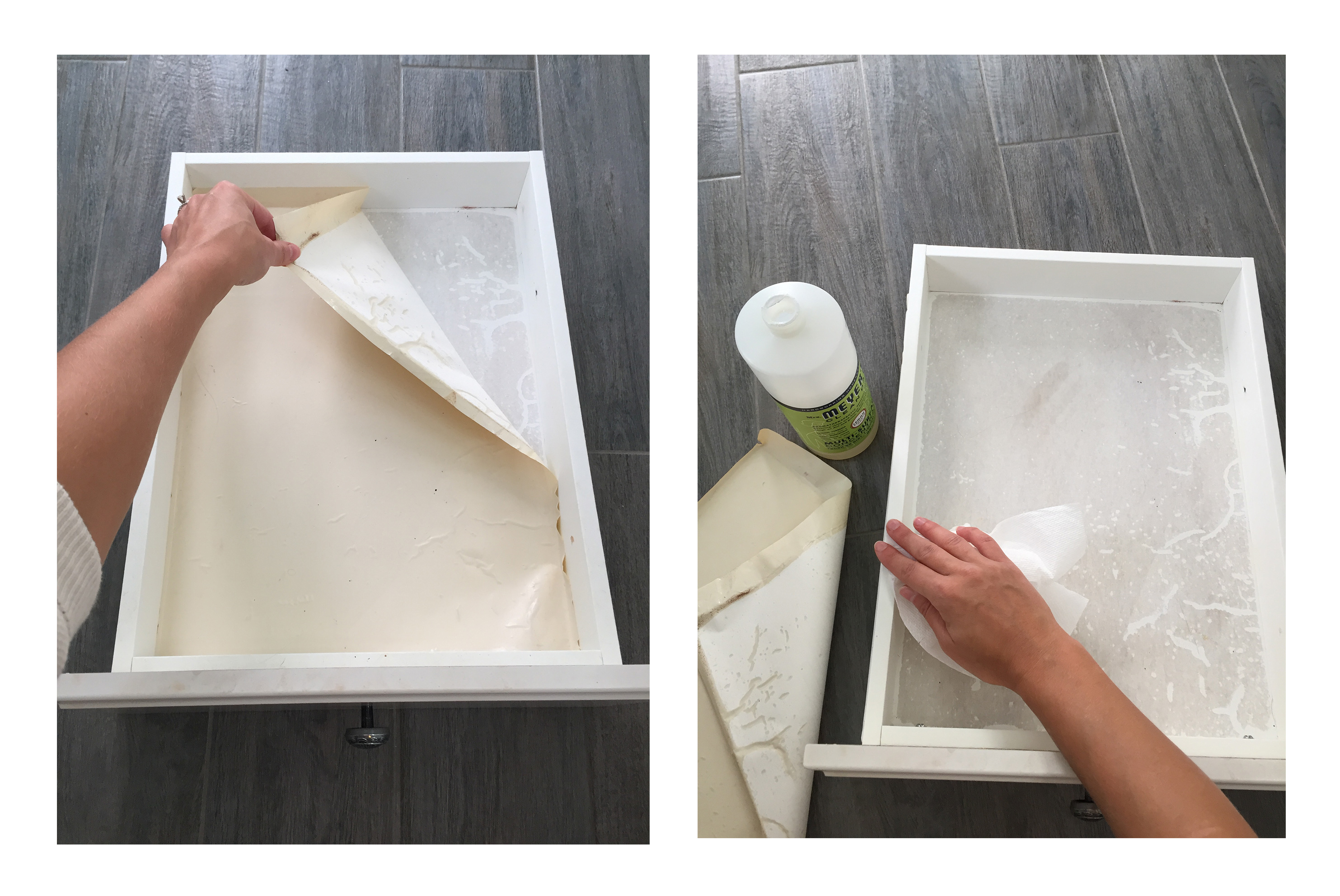 Remove liner from drawers