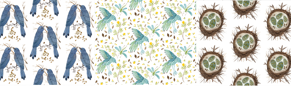 watercolor designs by Golly Bard in the Spoonflower Marketplace