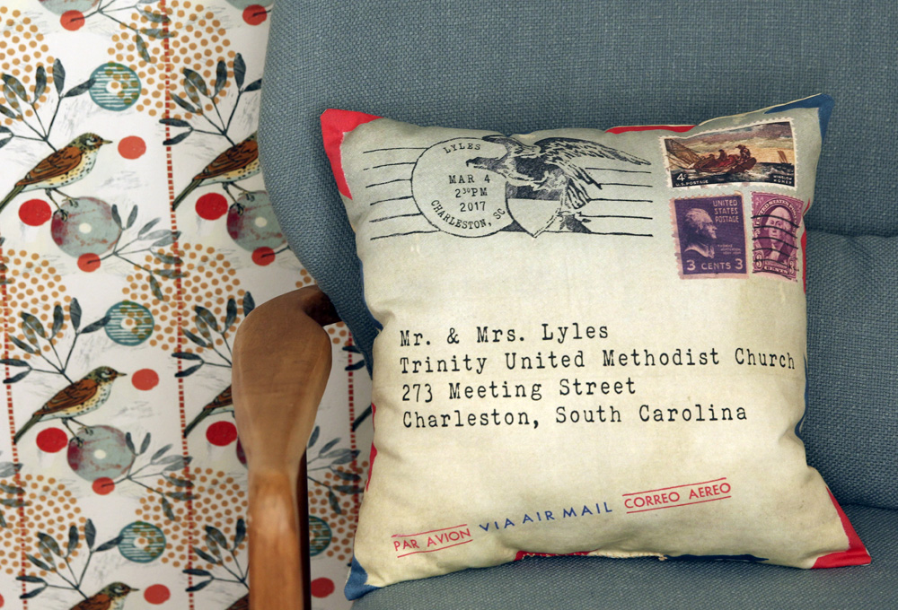 Lightweight cotton twill pillow