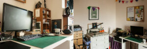 Vicky's design studio and creative workspace