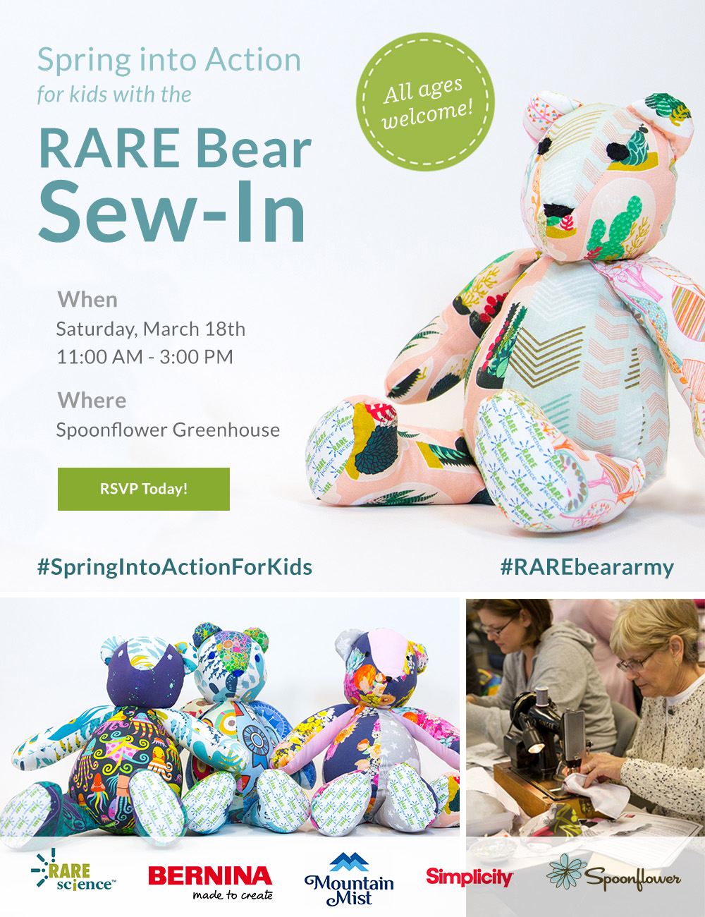 RARE Bear sew-in on March 18