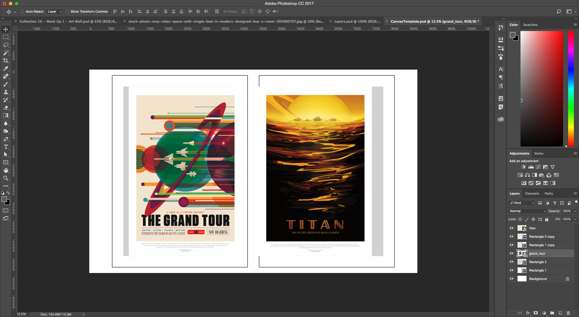 Poster design your own - Drag And Drop Your Poster Designs Of Choice Into The File Place Each One Over A Grey Rectangle Making Sure That The Poster Layer Is Directly Above Its