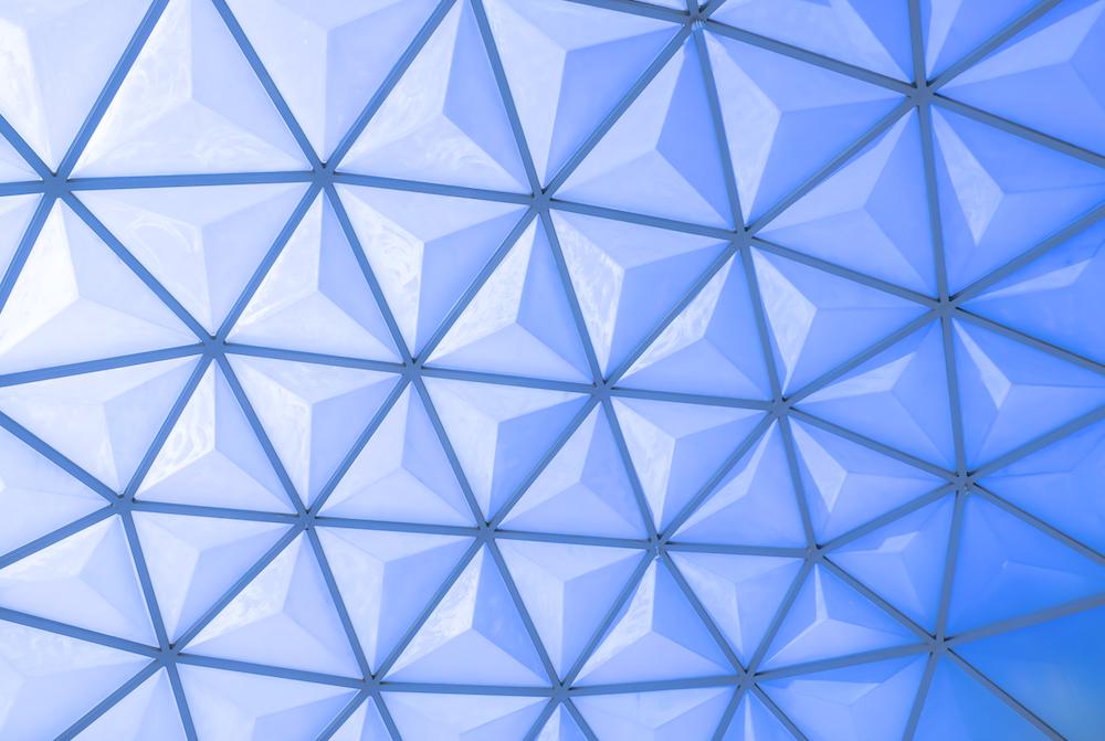 geodesic blue