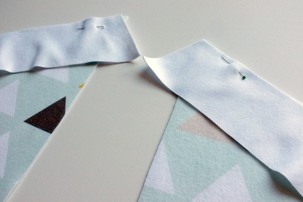 pin right sides together to begin sewing your panels together