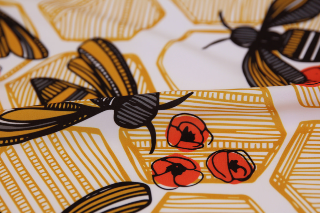 Honey Bee Hexagon by Tiffany Heiger