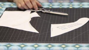 Cut out the pieces for the bandana bib pattern