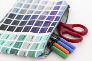A color map lined zipper pouch for all your supplies