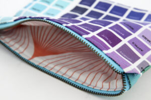 choose a complimentary lining to map your pouch unique