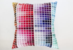 Beautiful, colorful, functional-a color map pillow!