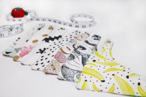 A few bandana bibs made with Spoonflower fabric