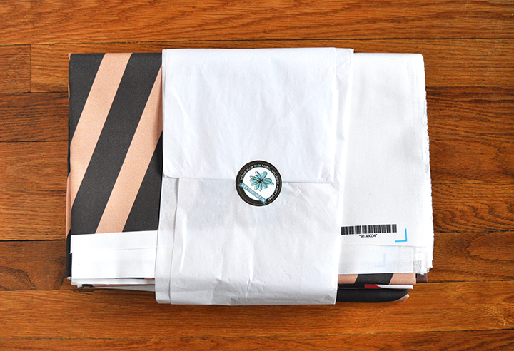 packaged, folded fabric