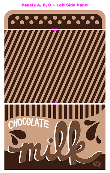 chocolate milk tent fabric by SammyK available on Spoonflower left side panel