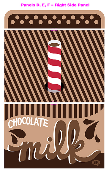 chocolate milk tent fabric by SammyK available on Spoonflower right side panel