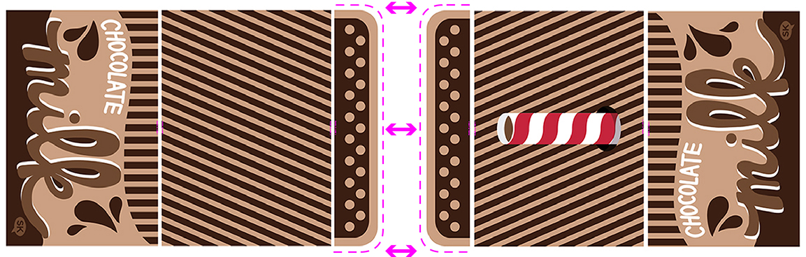 chocolate milk tent fabric by SammyK available on Spoonflower center panel
