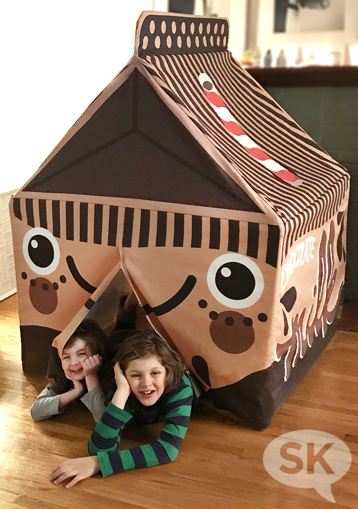 finished chocolate milk tent