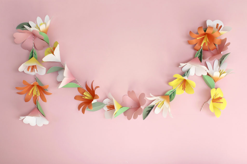 DIY Paper Flower Garland | Spoonflower Blog