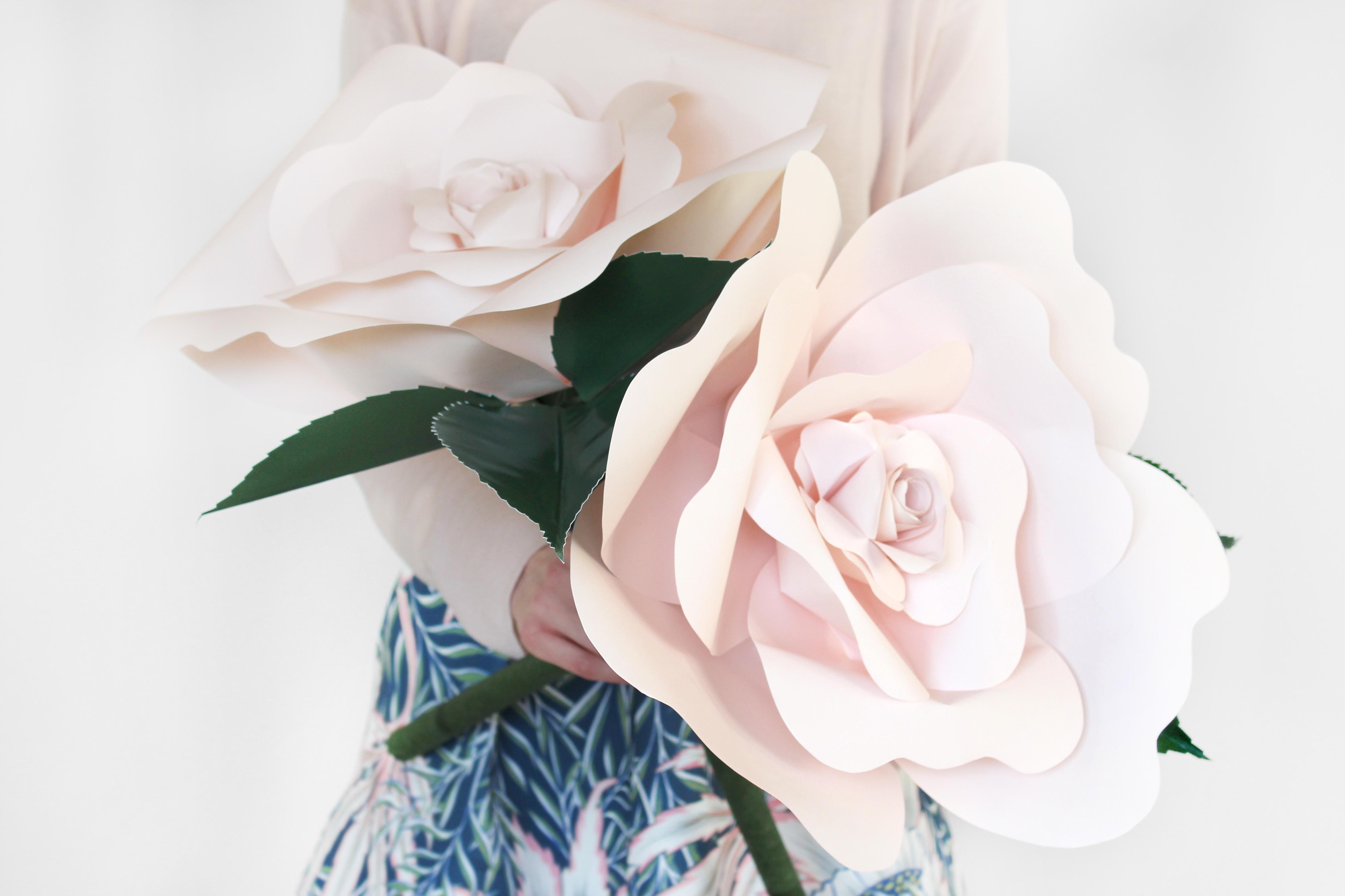 Diy Paper Roses Spoonflower Blog