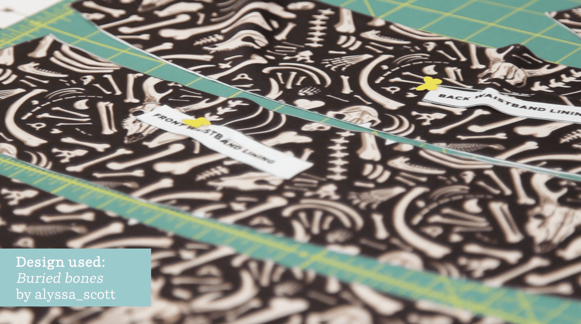 Pinning and sewing waistband lining together | Spoonflower Blog