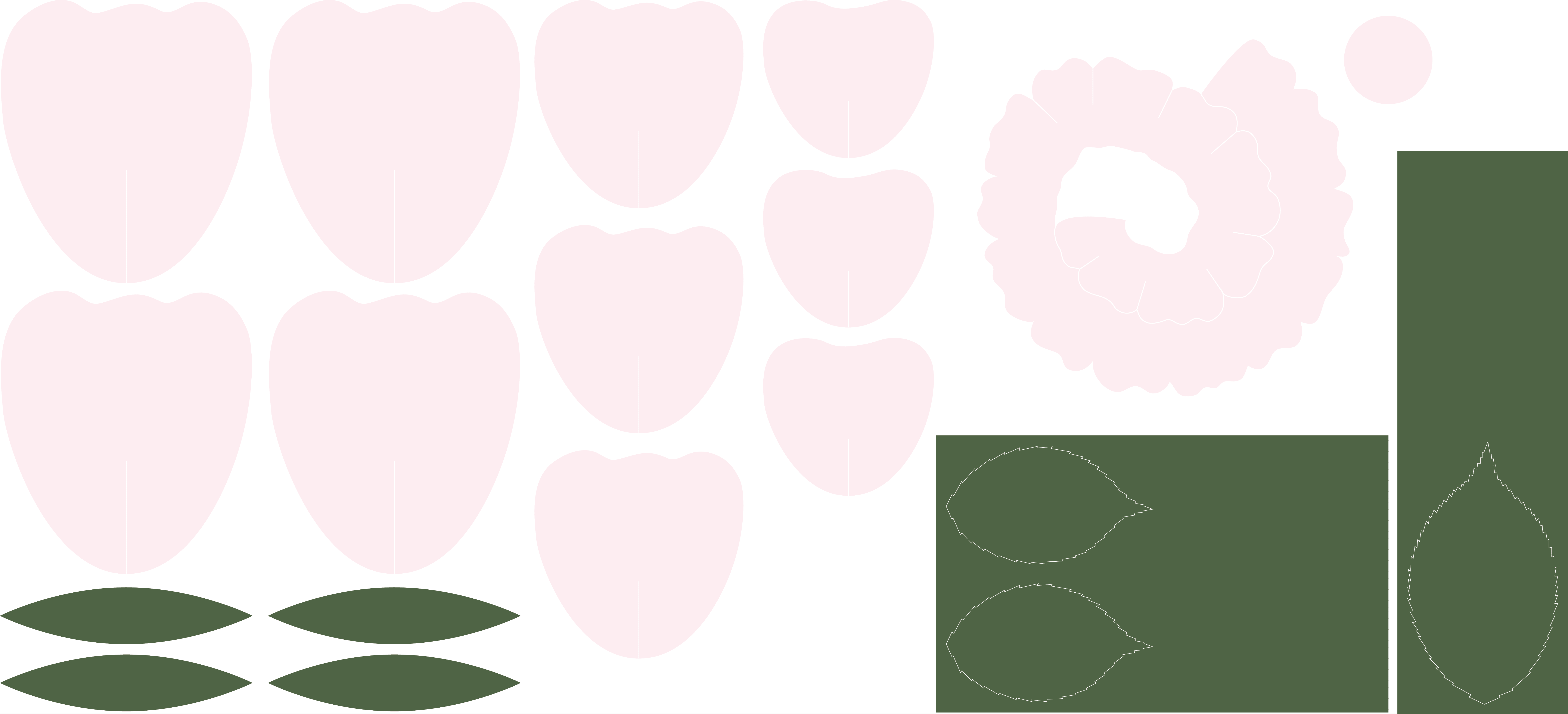 paper flower wallpaper template