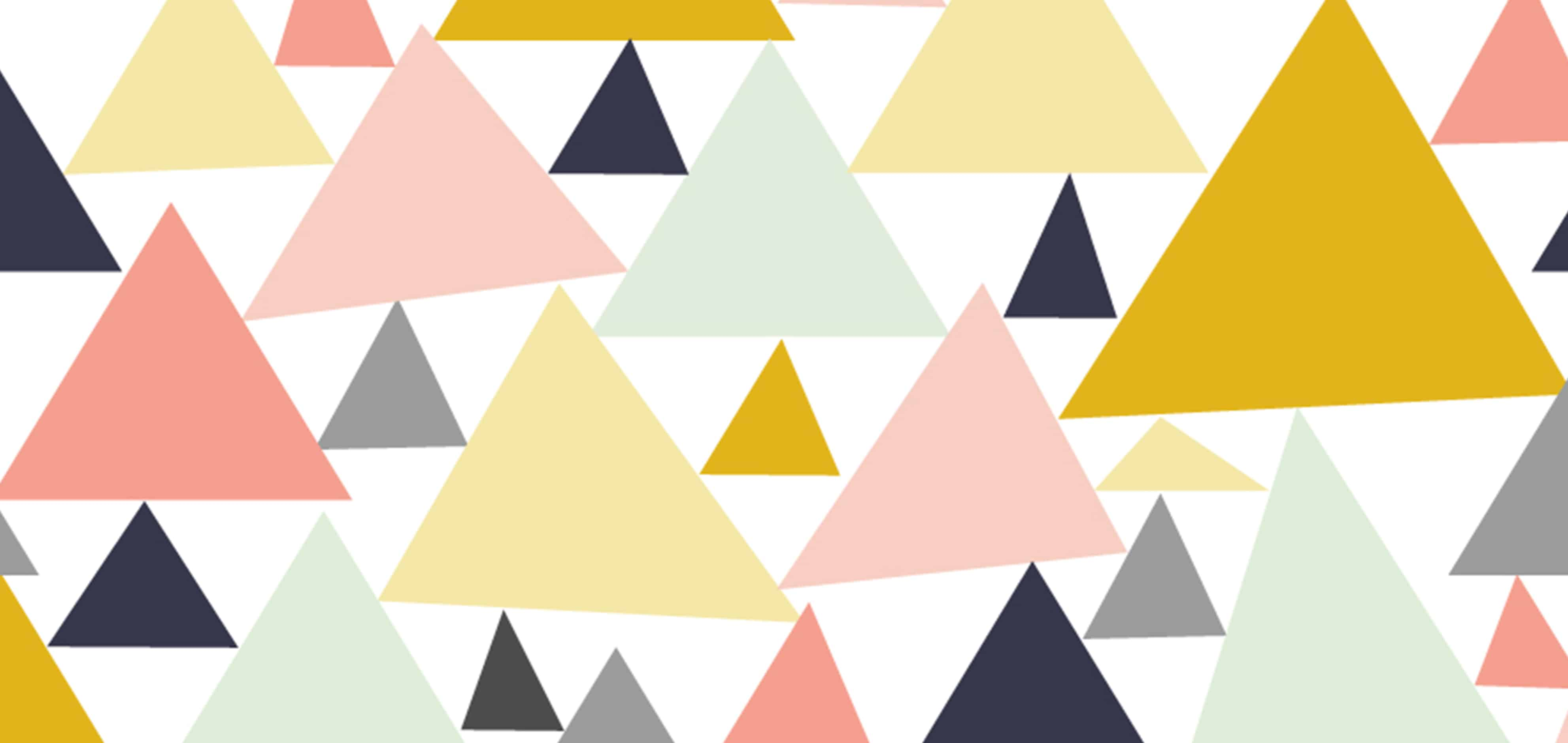 """Geometric Pastel Triangles"" by ms_jenny_lemon"