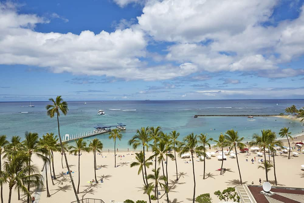 A view from the Hilton Hawaiian Village Waikiki Beach Resort