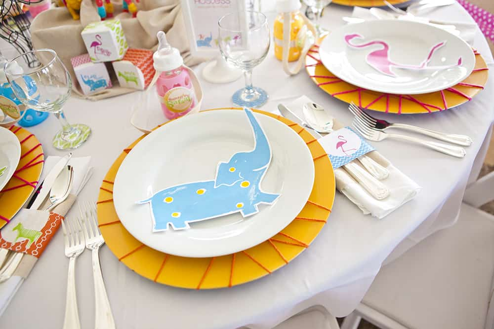 Sunshine safari baby shower tablescape by Operation Shower