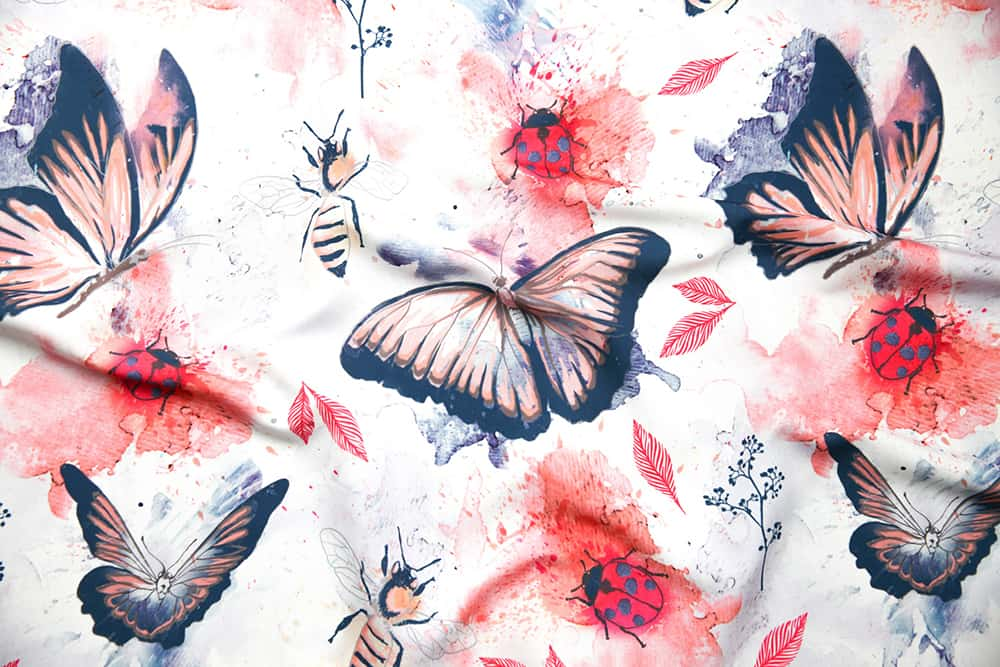 """Butterflies_and_bugs"" by flyinglizard is the grand prize winner in the Whimsical Watercolor Insect design challenge"