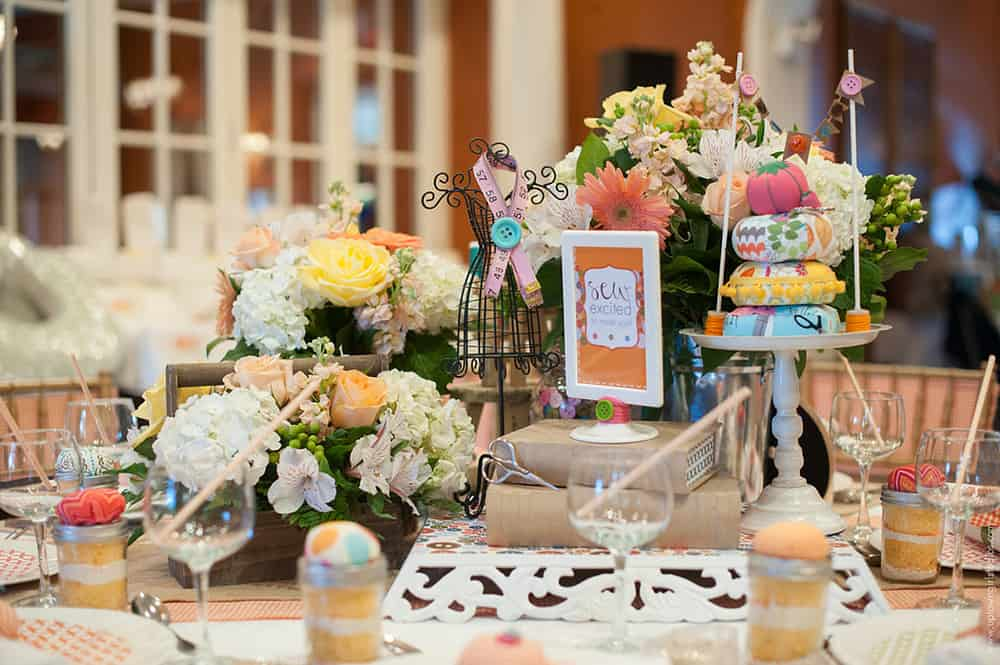 Over the Moon baby shower tablescape