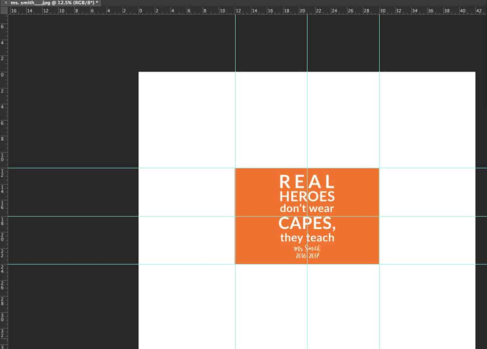 Create your centered quote in Photoshop