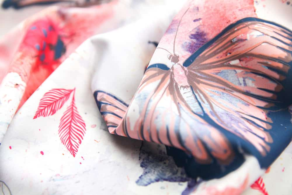 """Butterflies_and_bugs"" by flyinglizard is the grand prize winner in the Whimsical Watercolor Insect design challenge!"