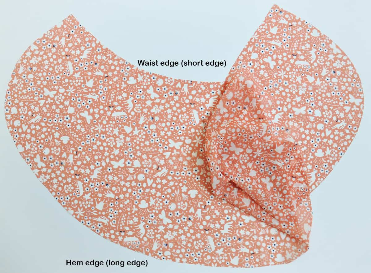 Hem the edges of your ballet wrap skirt
