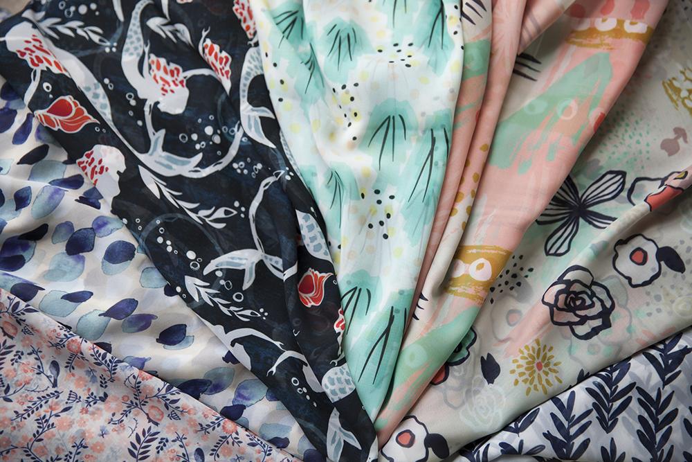 Chiffon fabric samples
