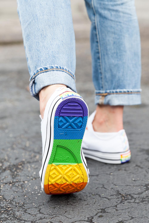 Rainbow sneakers | Spoonflower blog
