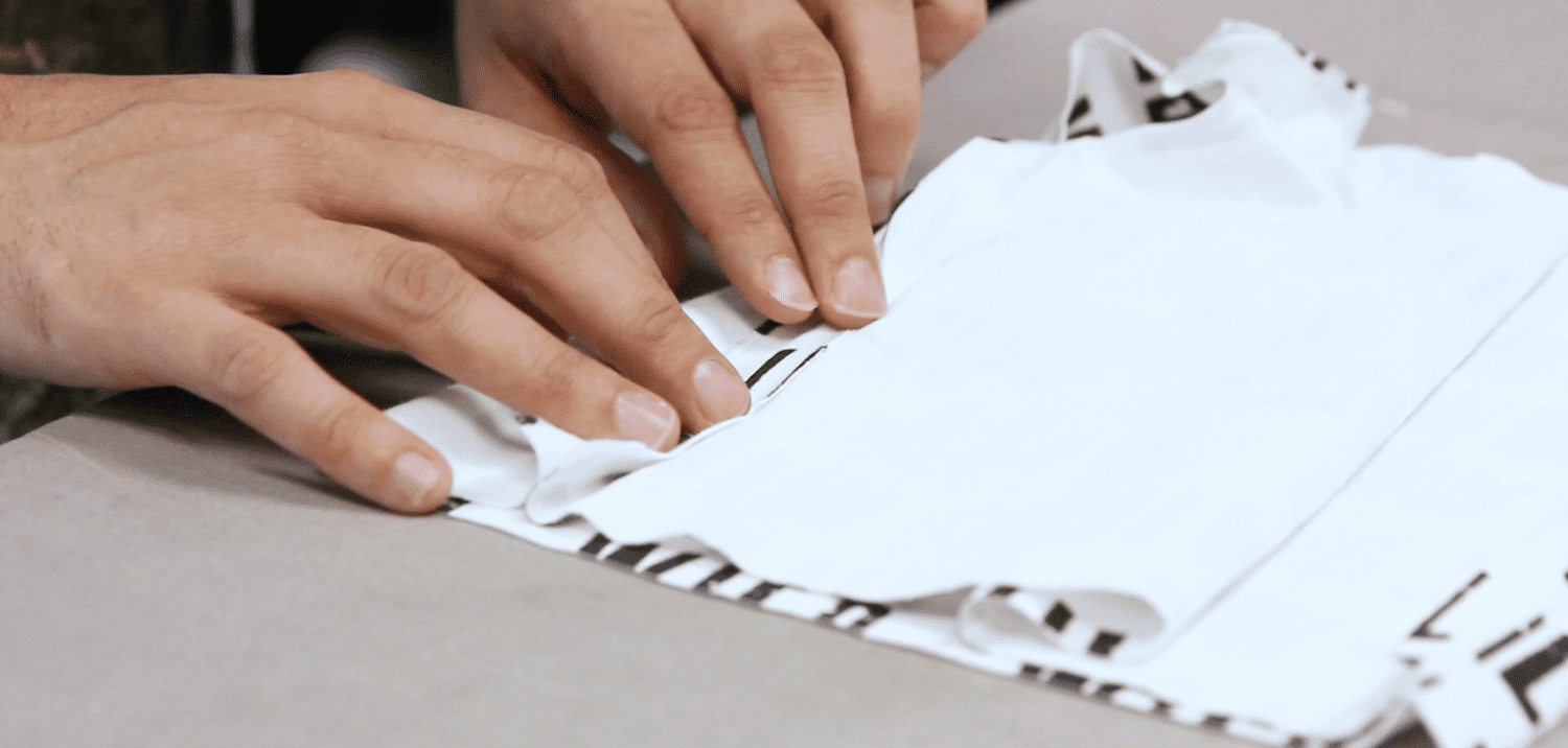 Pressing the side seams of the tee open | Spoonflower Blog