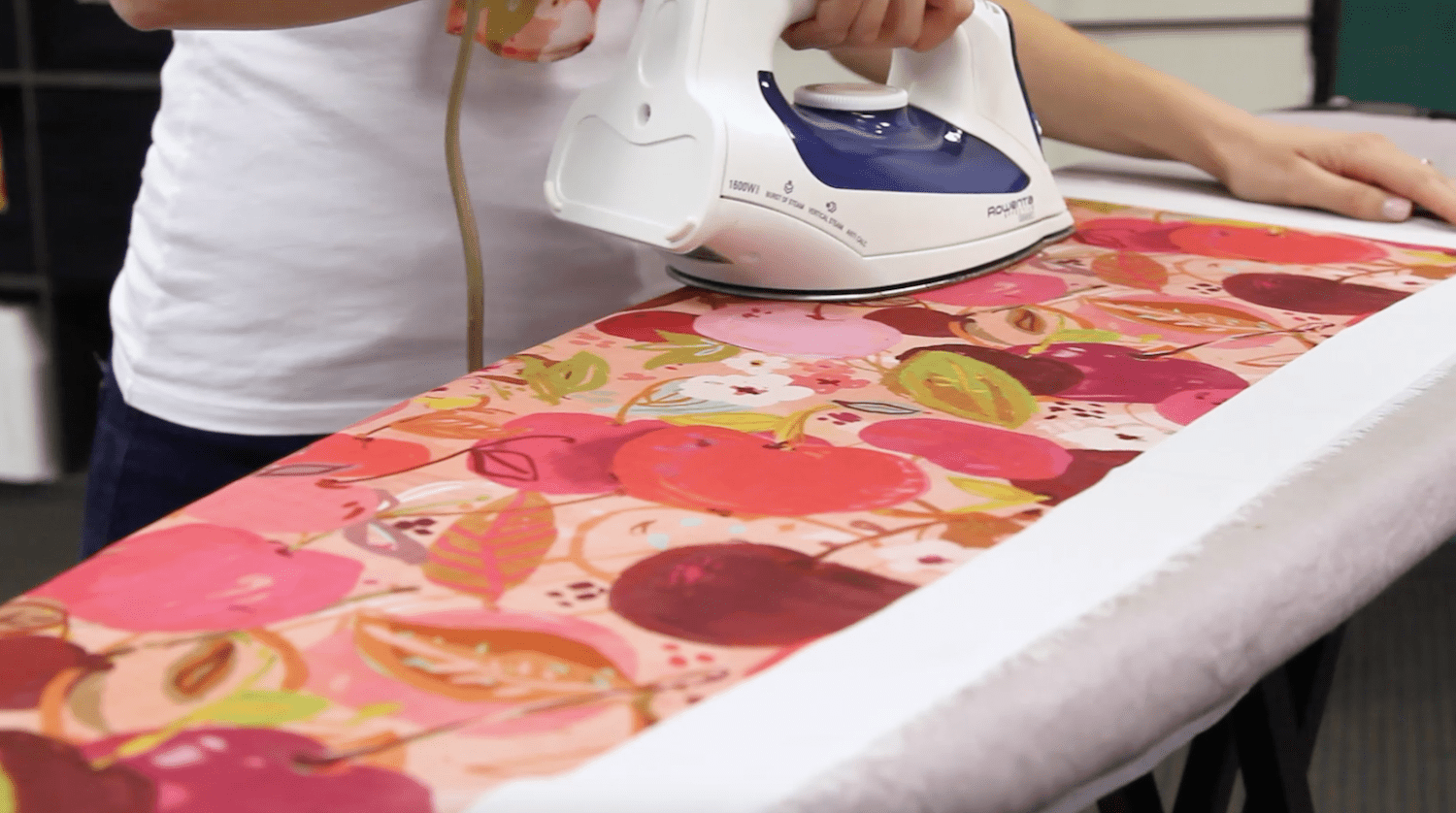 Start by ironing your fabric flat | Spoonflower Blog