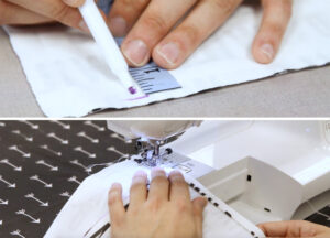 Marking and hemming the bottom of your shirt