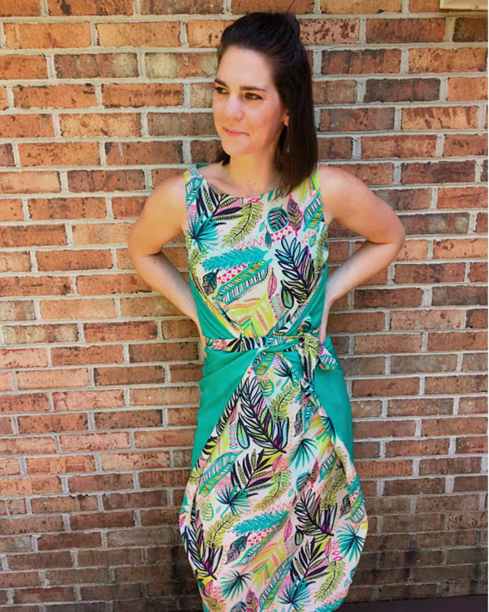 Kielo Wrap Dress showing off the color coordinate tool