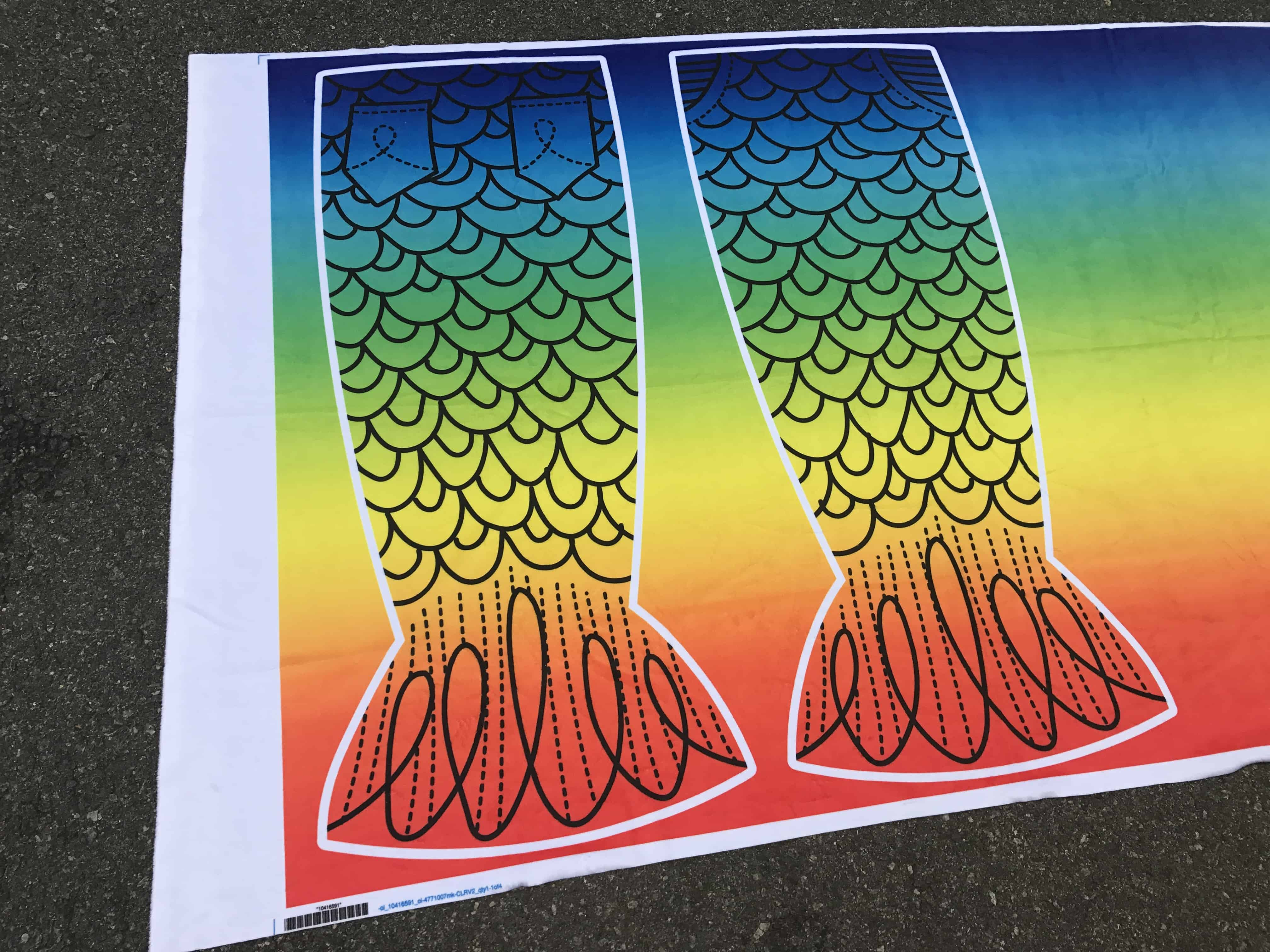 Rainbow minky is the perfect fabric for a mermaid tail project | Spoonflower Blog