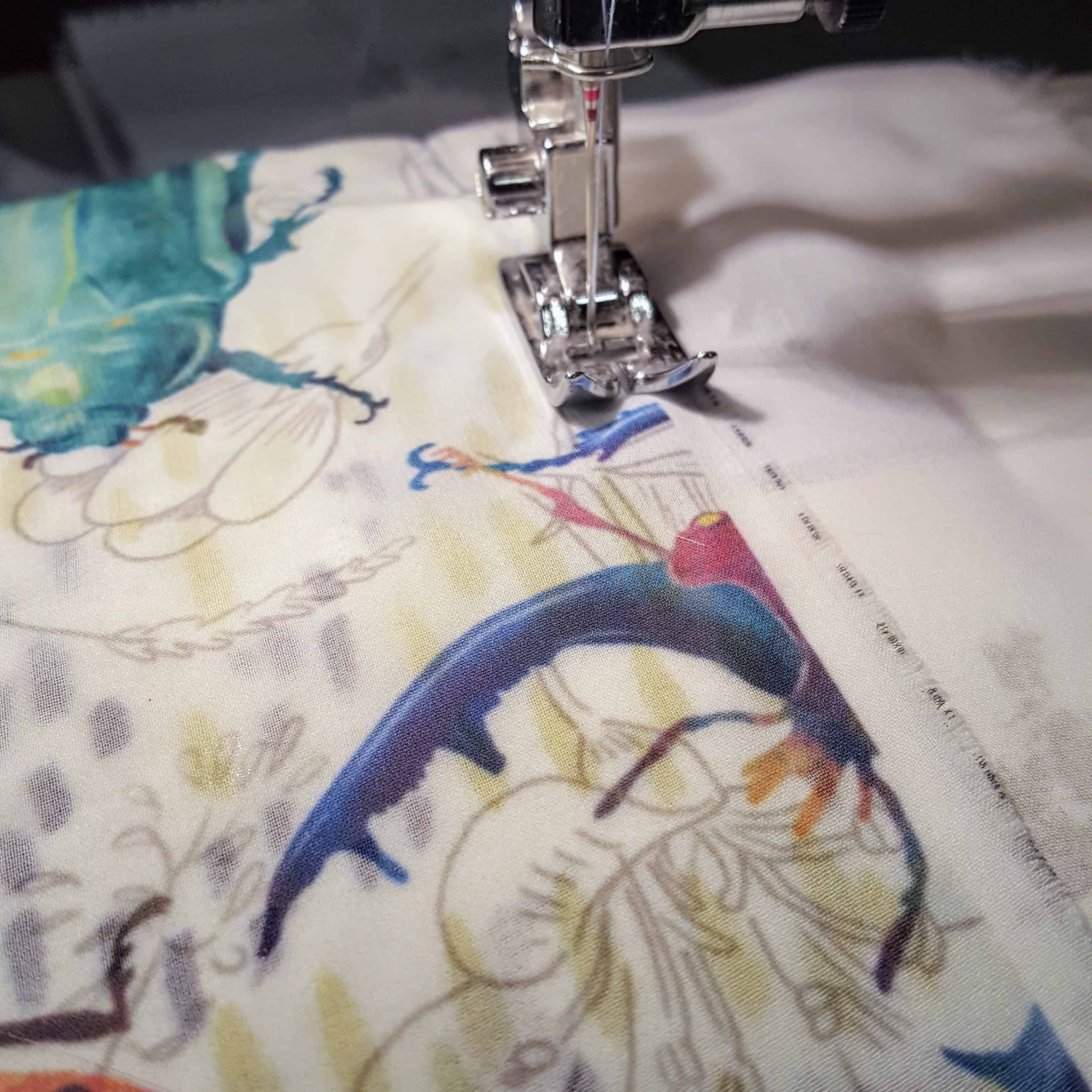 Connect the two panels of fabric together by stitching along the unfinished side | Spoonflower Blog