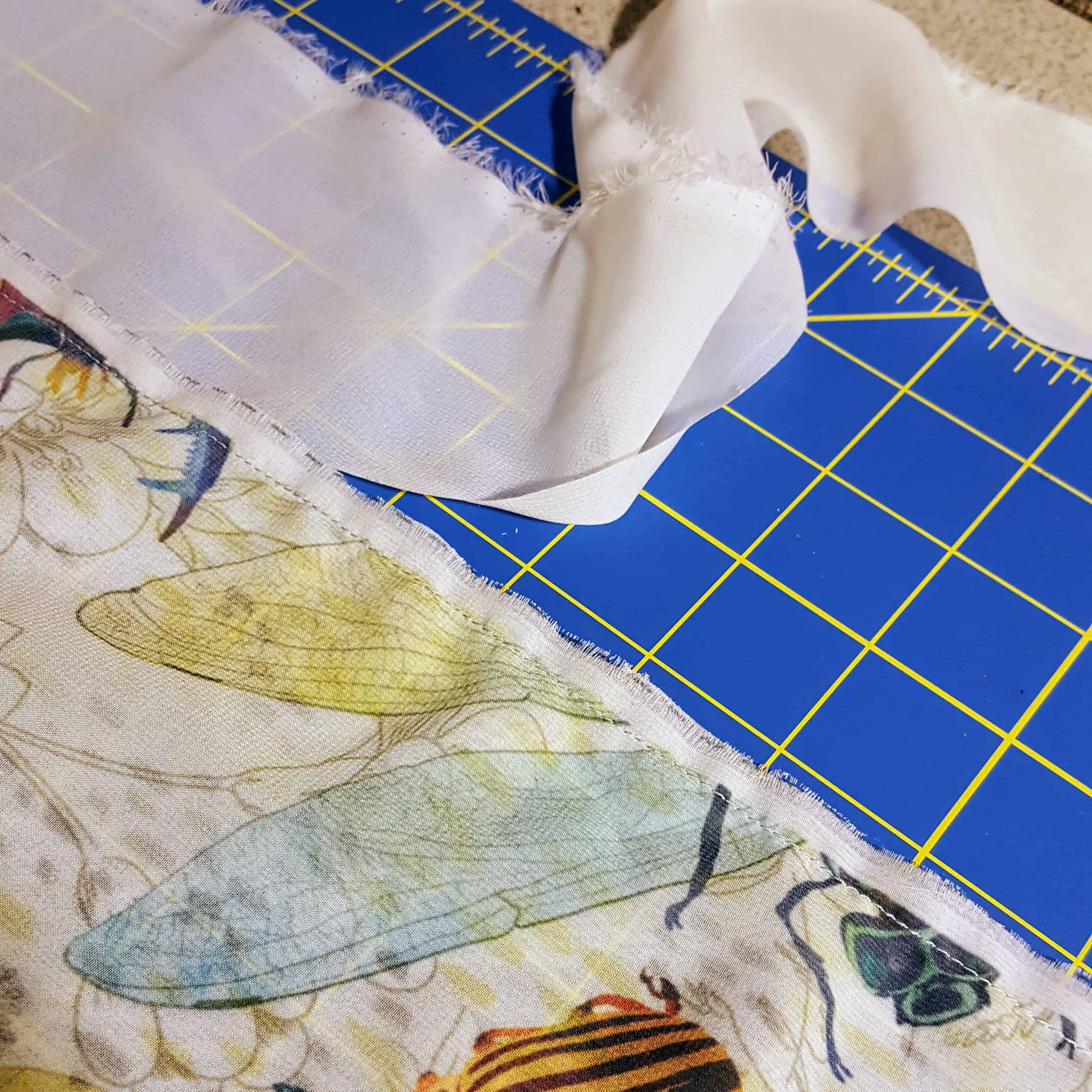 Trim the excess fabric from your scarf | Spoonflower Blog