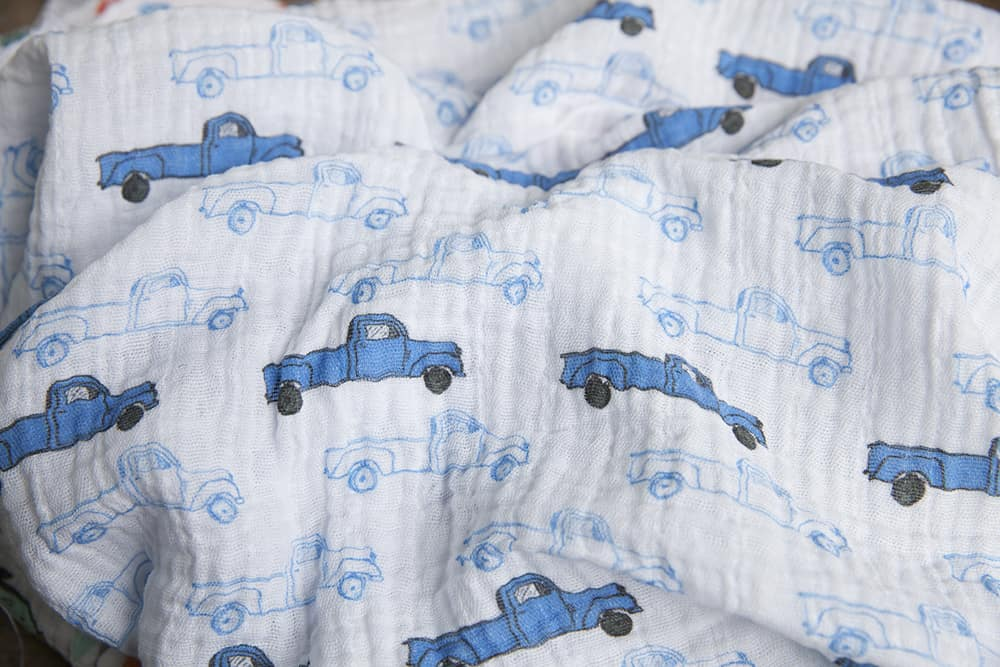 vintage truck - blue by shopcabin | Spoonflower Blog