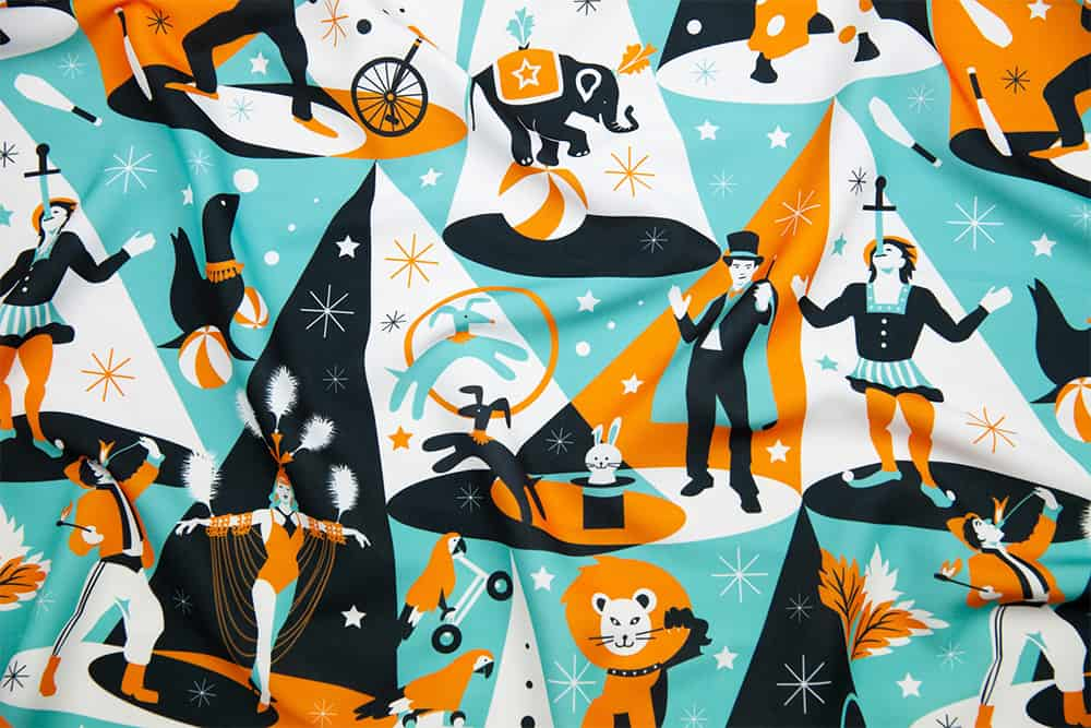 """In the spotlight – circus performers"" by camcreative is the Circus Performers design challenge winner! 