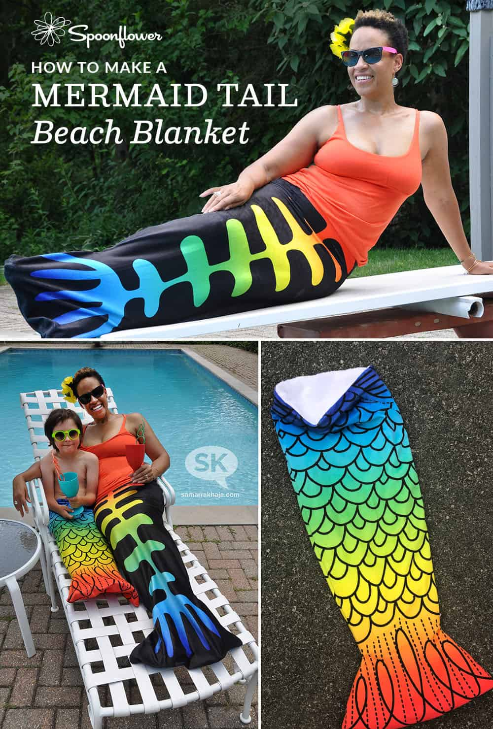 How to make a mermaid tail beach blanket | Spoonflower Blog