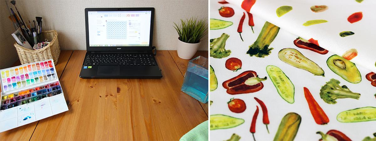 Katerina Izotova's watercolor   Spoonflower Blog