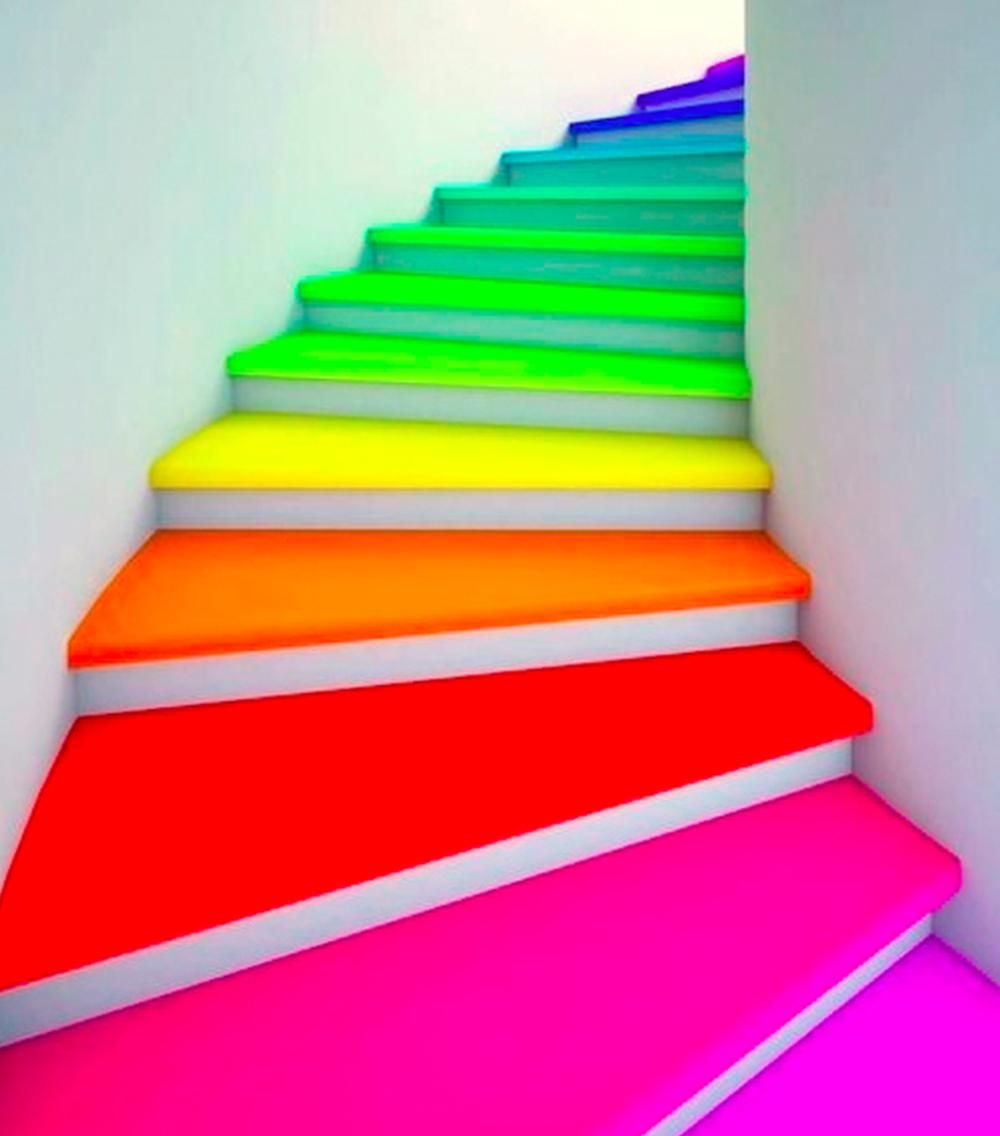 Rainbow stairs | Spoonflower Blog