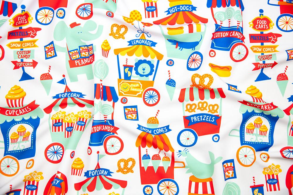 Circus Food Carts by bzbdesigner is the Big Top Treats design challenge winner | Spoonflower Blog