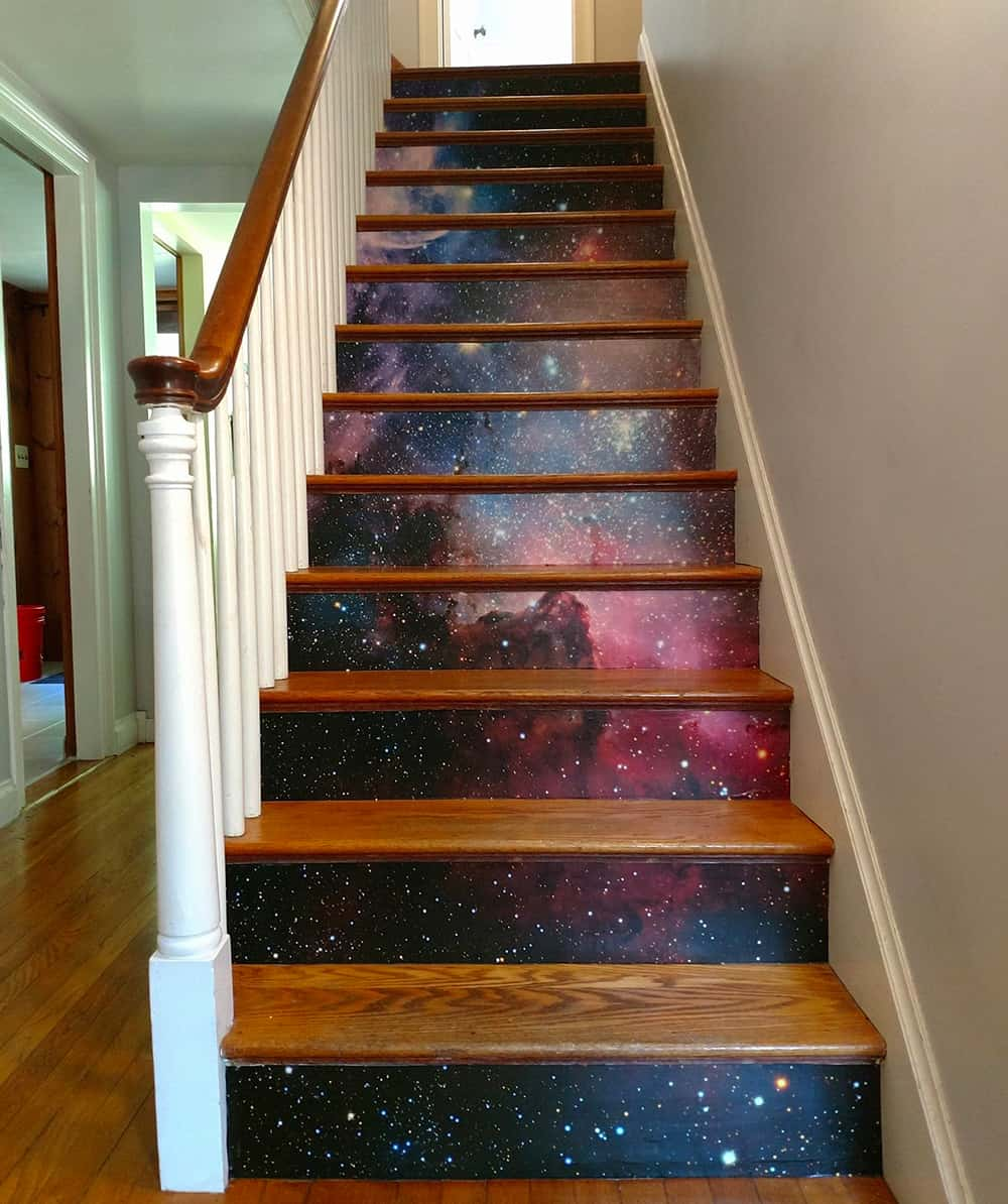 Galaxy stairs | Spoonflower Blog