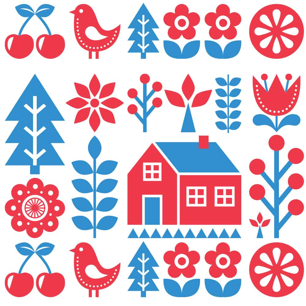 Swedish Folk Art design challenge entries are due by August 8 | Spoonflower Blog