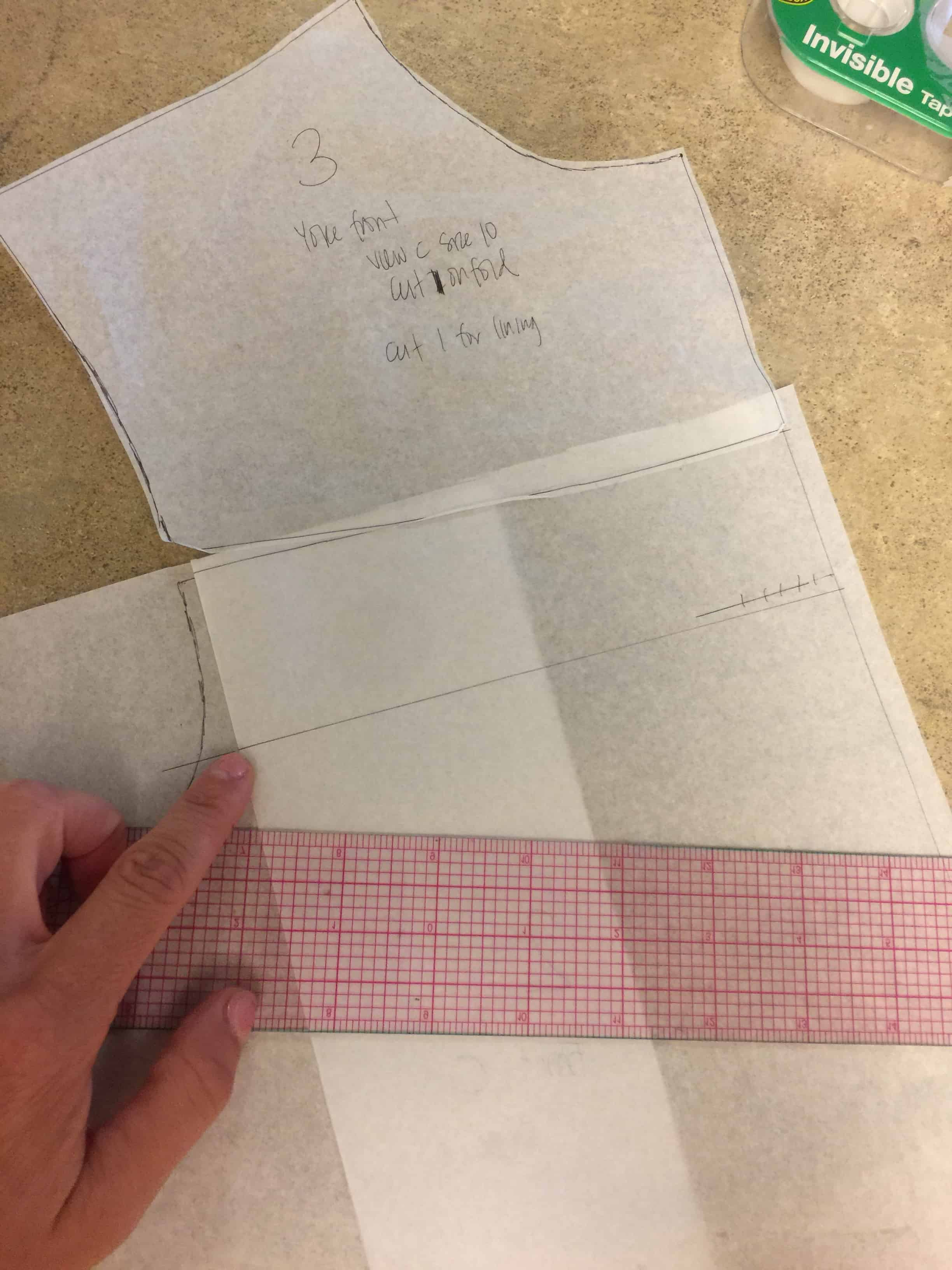 "Draw a 2"" line to create a new yoke length 